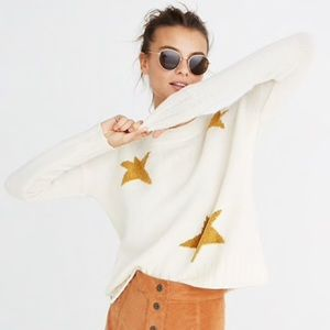 Madewell Merino Wool Star Pullover Sweater NWOT